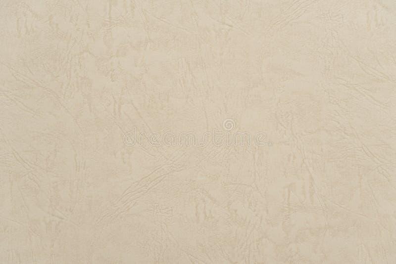 Fondo de cuero beige del papel de la textura del extracto imagen de archivo libre de regalías