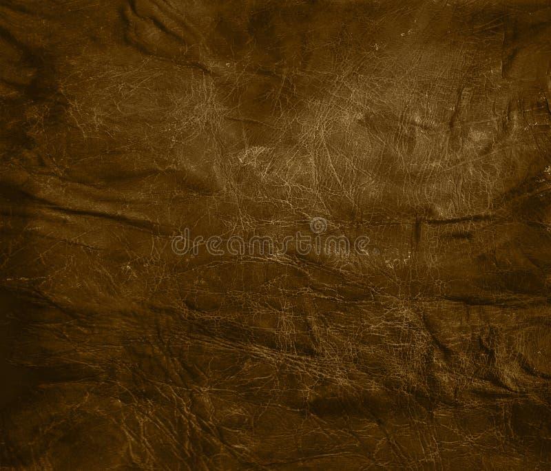 Fondo de cuero marrón resistido fotos de archivo