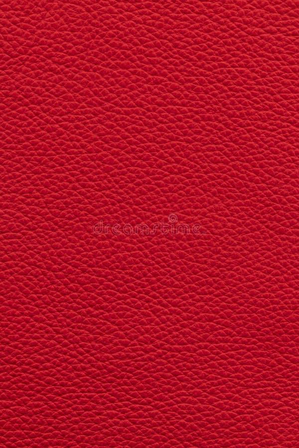Fondo de cuero rojo foto de archivo libre de regalías