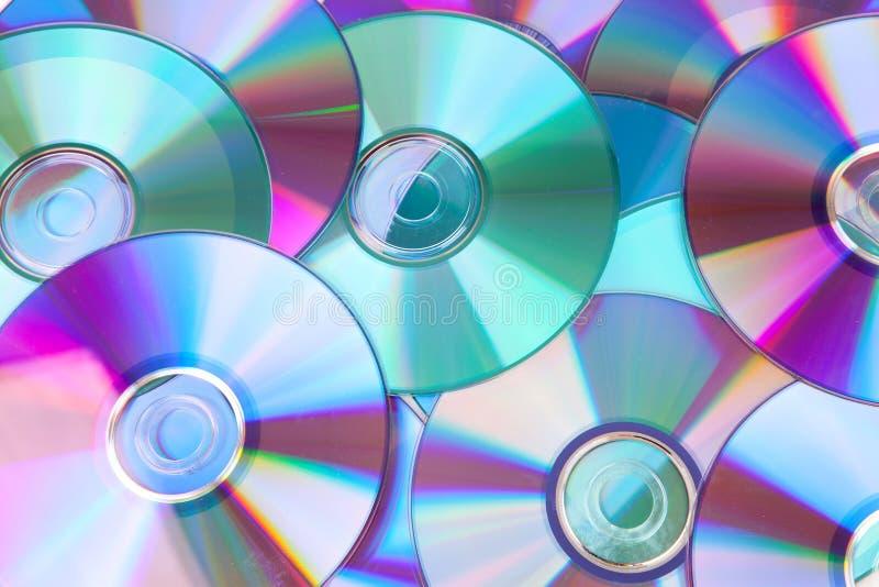 Fondo de disco-Cdes compactos imagenes de archivo