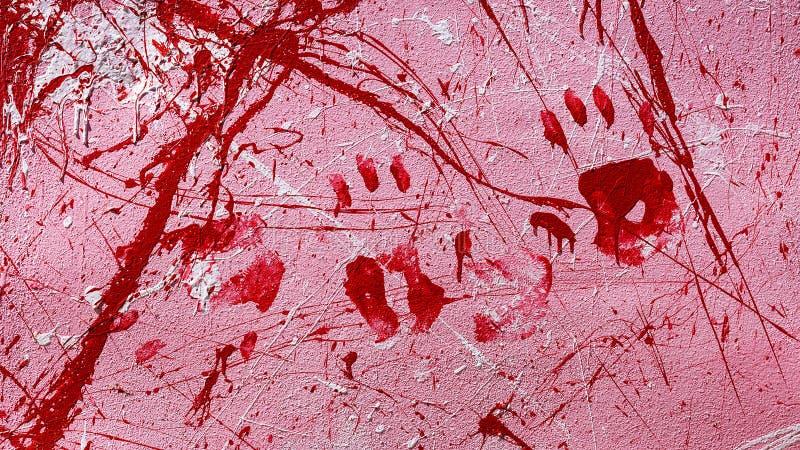 Fondo de diversos puntos de la pintura y de los handprints libre illustration