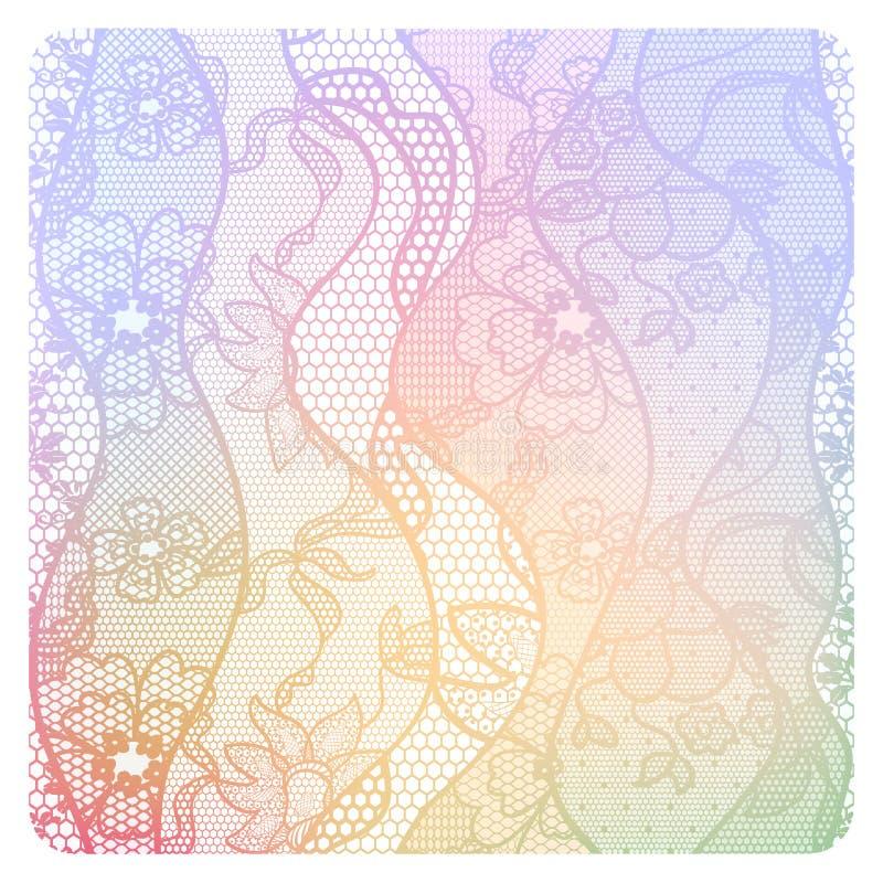 Fondo de encaje del vintage en colores suaves. libre illustration