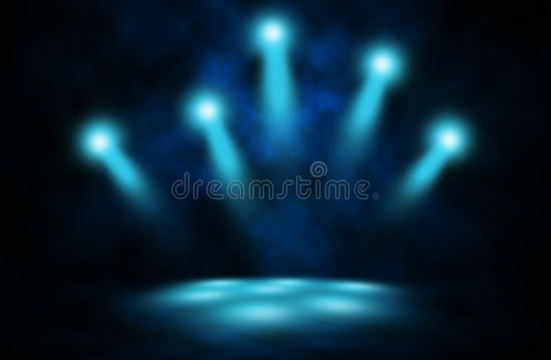 Fondo de etapa azul del humo del disco del proyector libre illustration