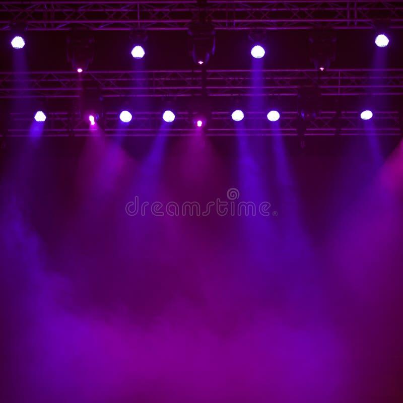 Fondo de etapa púrpura fotos de archivo