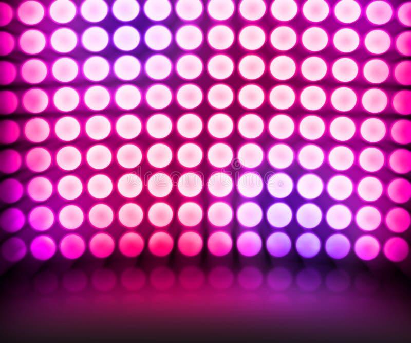 Fondo de etapa violeta de luces del disco de la danza libre illustration
