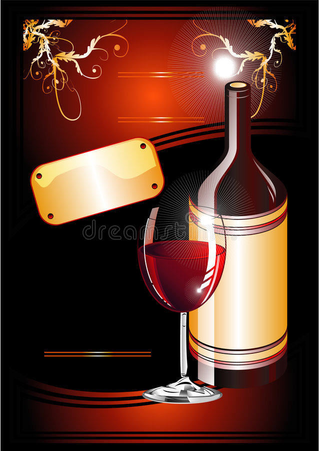 Fondo de Flayer del catálogo del vino libre illustration