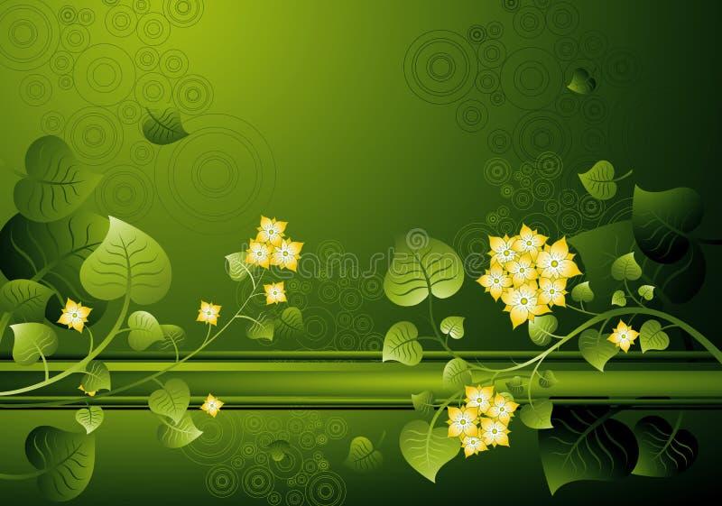 Fondo de flores, vector stock de ilustración
