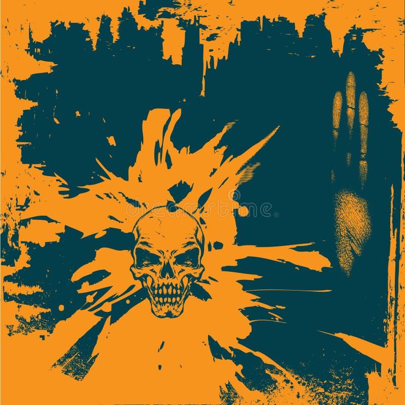 Download Fondo de Grunge ilustración del vector. Ilustración de añil - 7277367