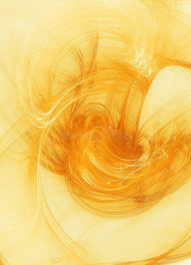 Fondo de Grunge - amarillo libre illustration