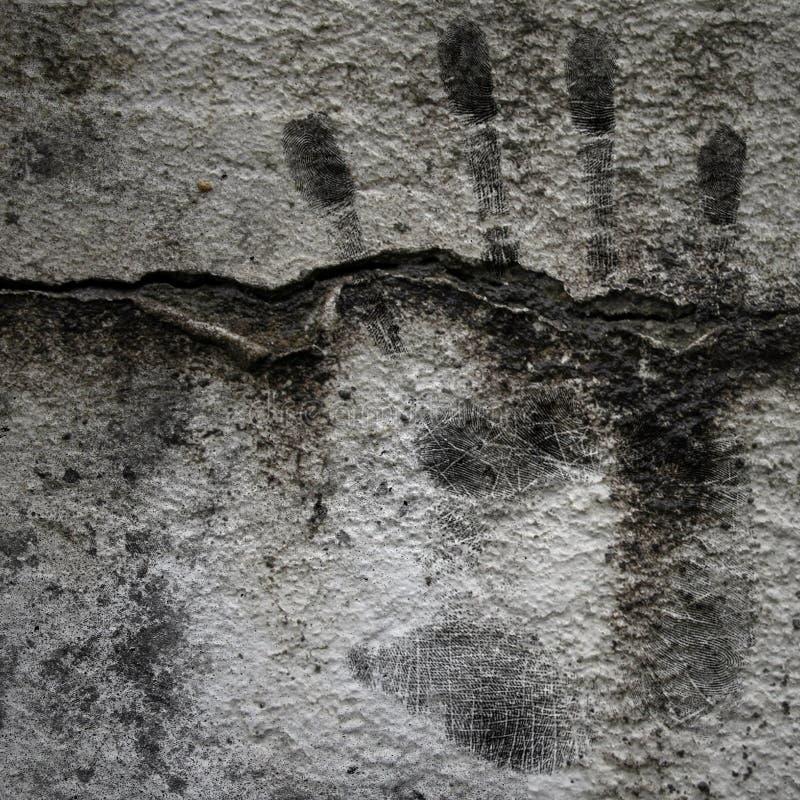 Fondo de Grunge con la impresión de la mano imagen de archivo