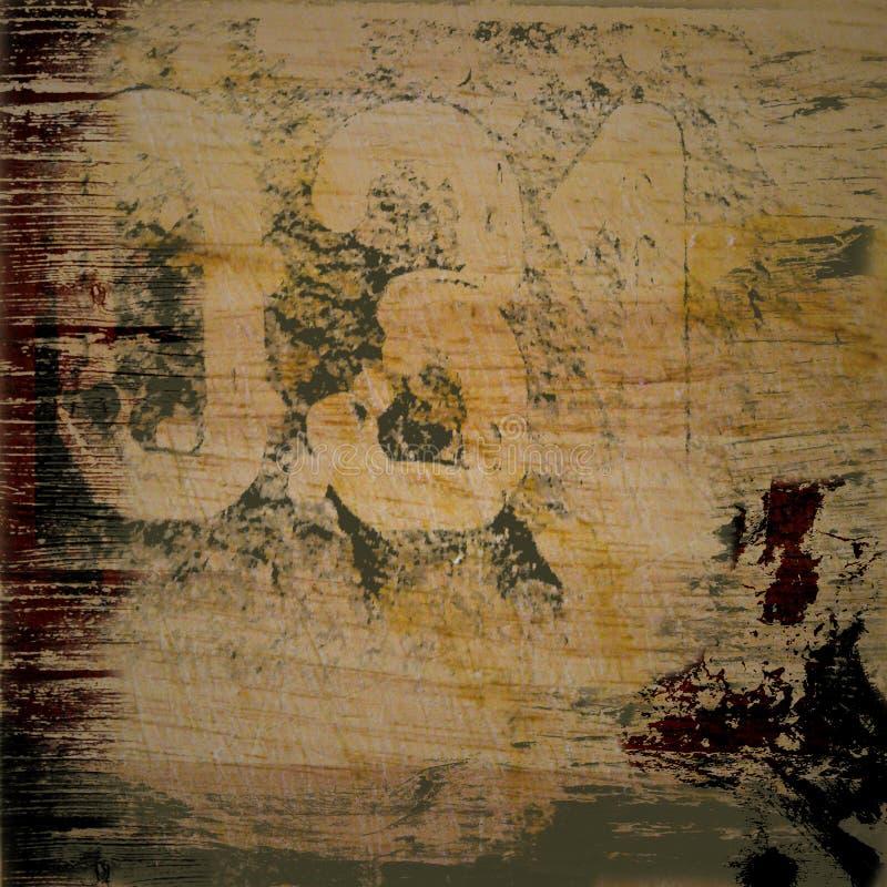 Fondo de Grunge con números foto de archivo libre de regalías