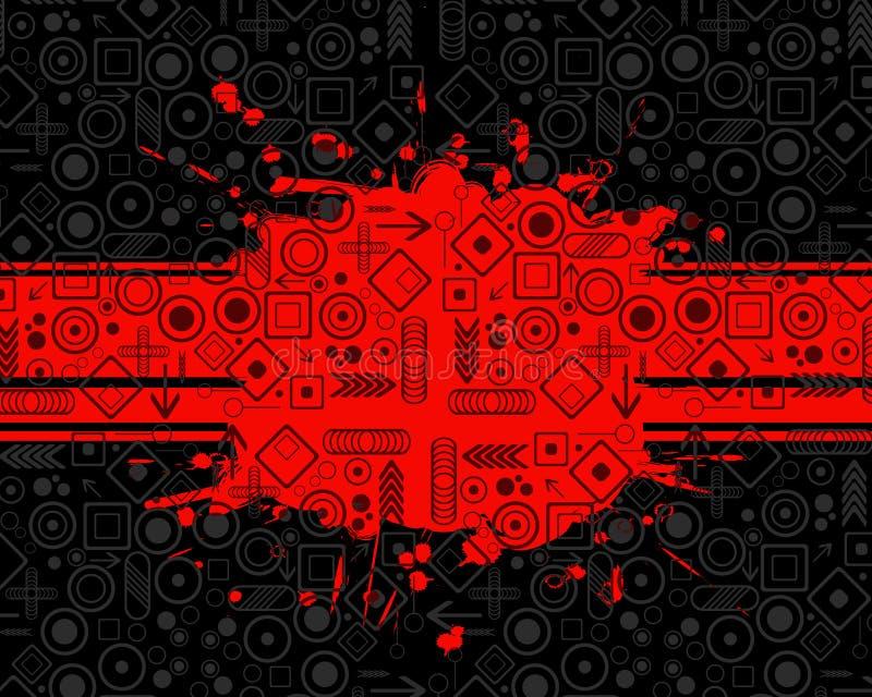 Fondo de Grunge con símbolos libre illustration