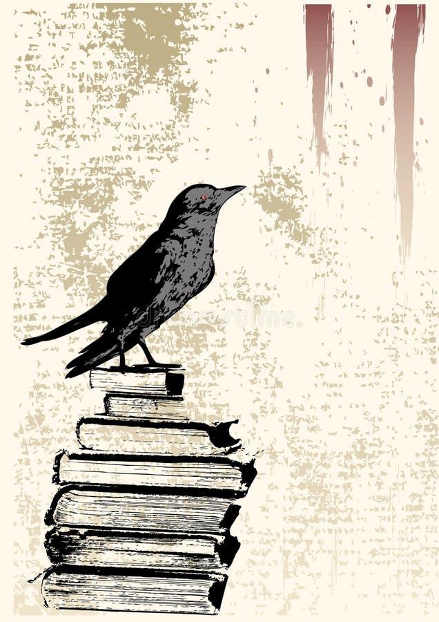 Fondo de Grunge del cuervo stock de ilustración