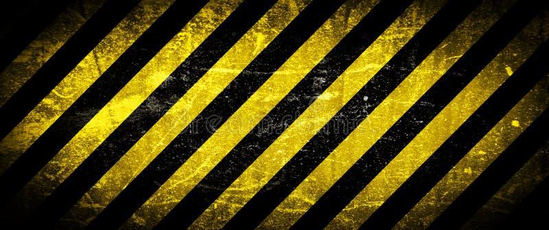 Fondo de Grunge, rayas amarillas ilustración del vector