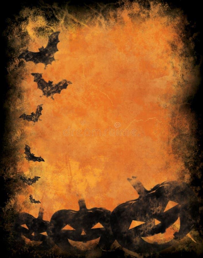Fondo de Grunge víspera de Todos los Santos ilustración del vector