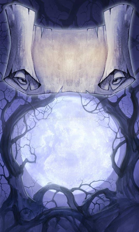 Fondo de Halloween ilustración del vector