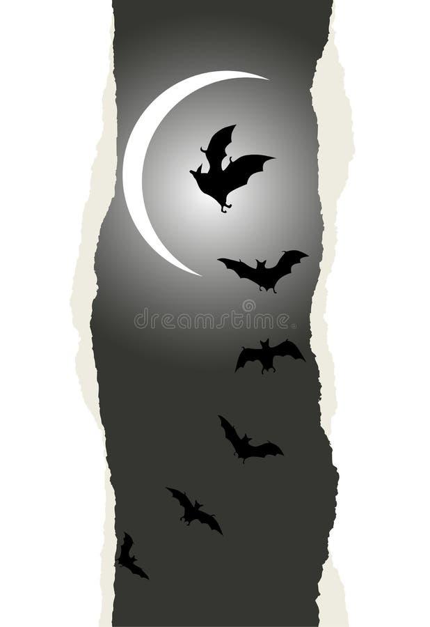 Fondo de Halloween con los palos del vuelo ilustración del vector