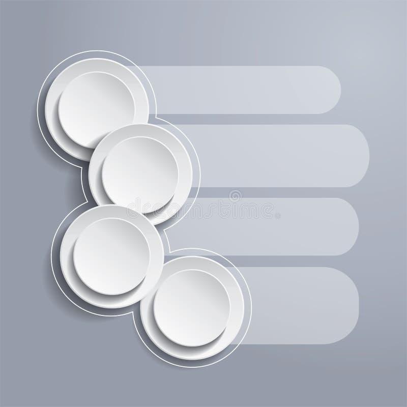 Fondo de Infographics con los círculos blancos libre illustration