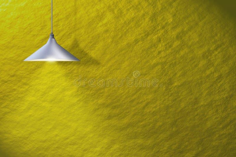 Fondo, de interior, más interier, lámpara stock de ilustración