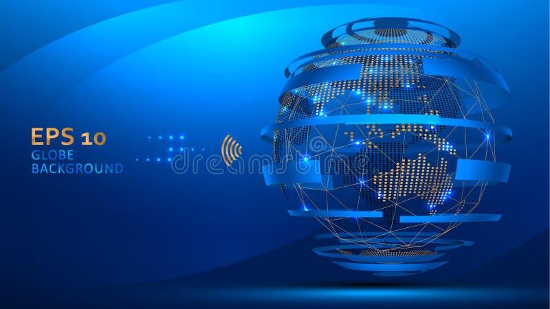 Fondo de Internet del globo libre illustration