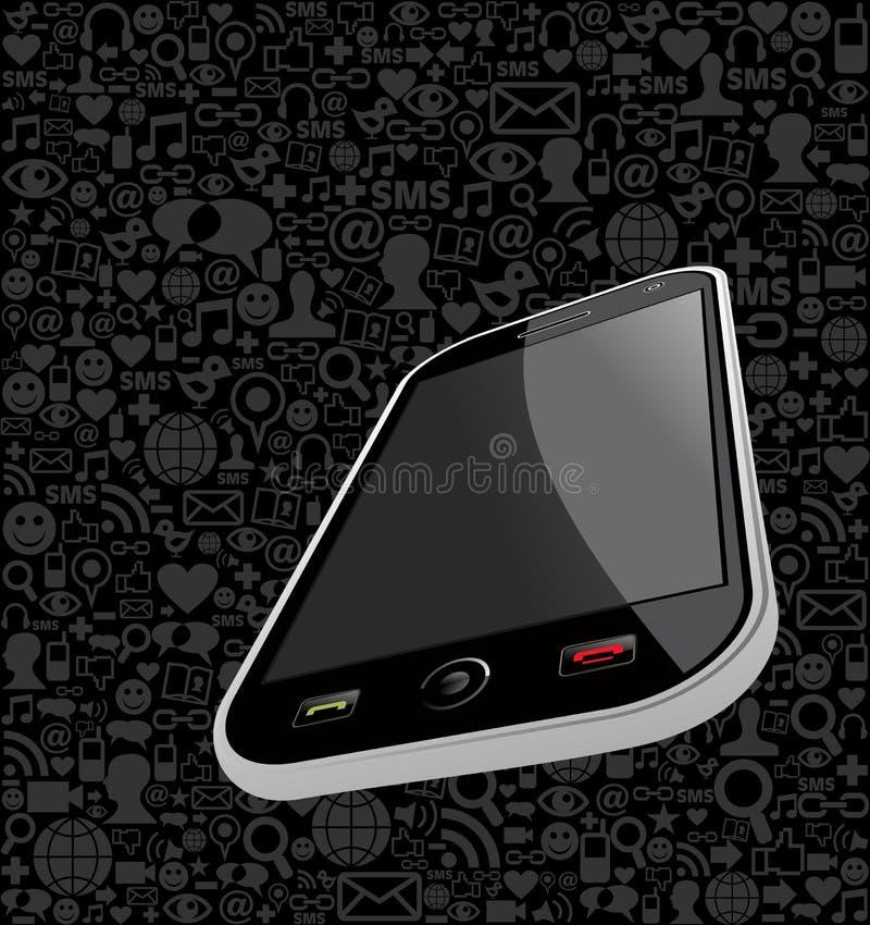 Fondo de Iphone stock de ilustración