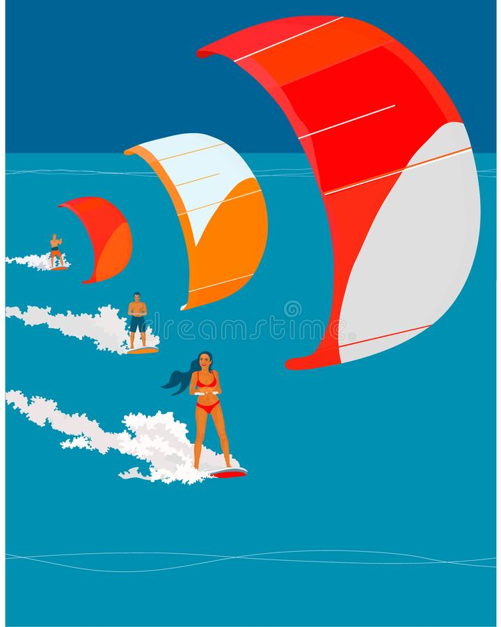 Fondo de Kiting libre illustration