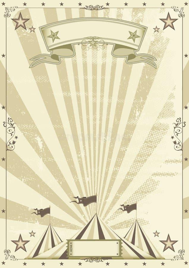 Fondo de Kraft del circo stock de ilustración