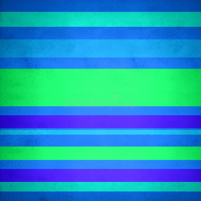 Fondo de líneas en azul y verde ilustración del vector
