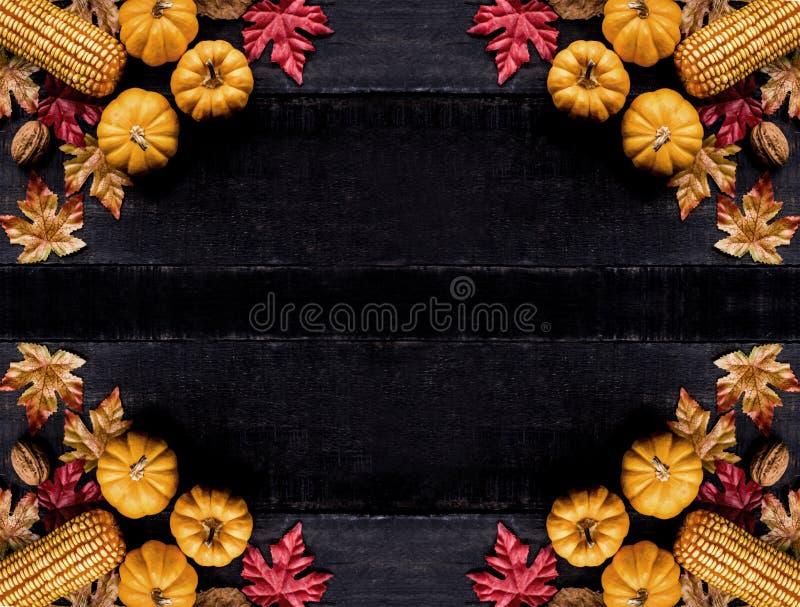 Fondo de la acción de gracias otoño y estación de la cosecha de la caída foto de archivo