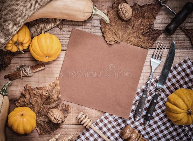 Fondo de la acción de gracias otoño y estación de la cosecha de la caída imágenes de archivo libres de regalías
