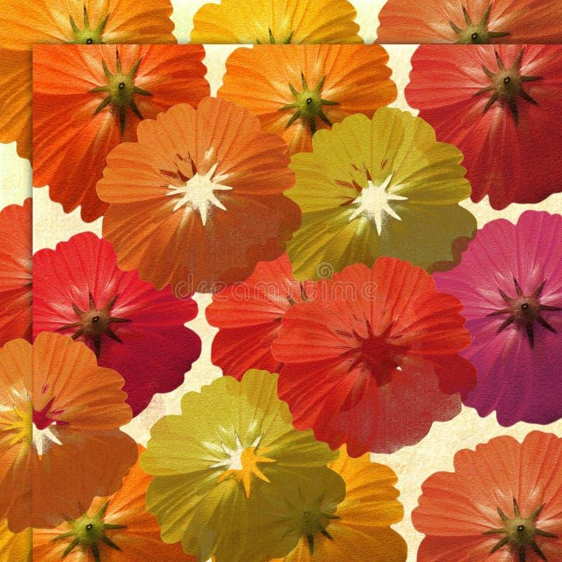 Fondo de la aceituna y de la flor del verano libre illustration