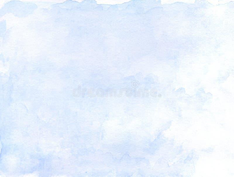 Fondo de la acuarela del azul de cielo Mano drenada libre illustration