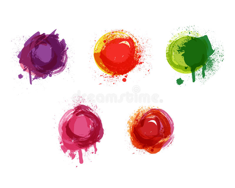 Fondo de la acuarela del vector La acuarela salpica y la textura de los puntos Fondo handdrawn artístico Pinte el sistema del spl libre illustration