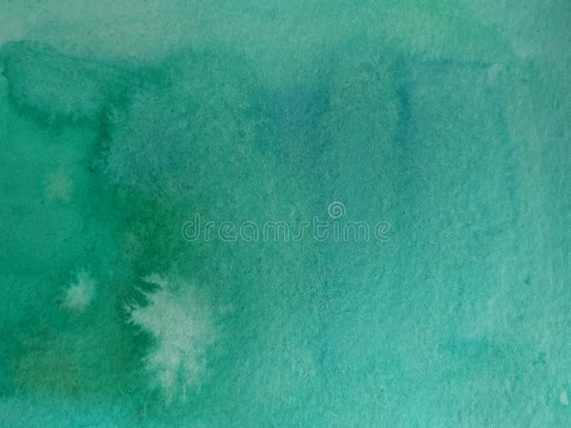 Fondo de la acuarela en verde y turquesa libre illustration