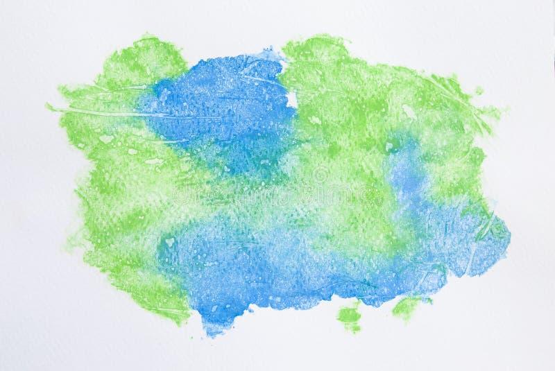 Fondo de la acuarela, pintura azul y verde abstracta de la acuarela libre illustration