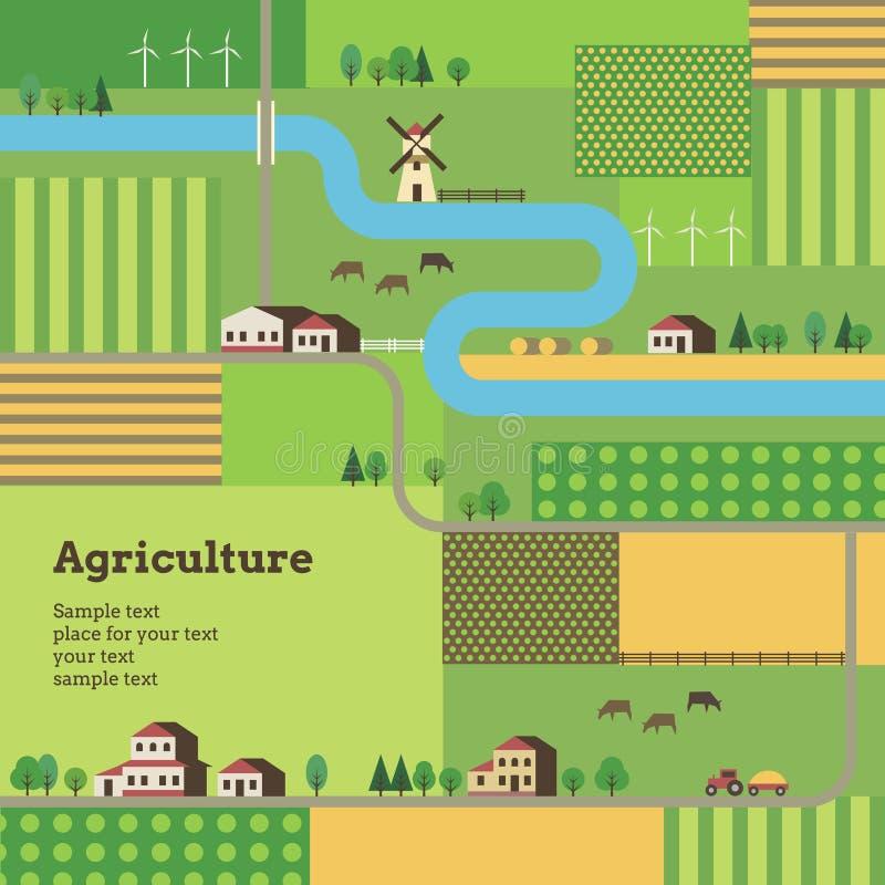 Fondo de la agricultura stock de ilustración