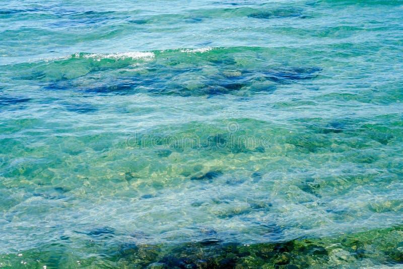 Fondo de la agua de mar fotografía de archivo libre de regalías