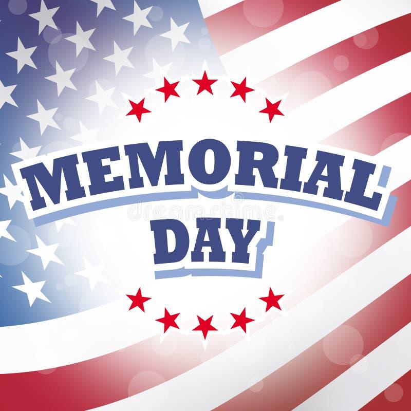 Fondo de la bandera americana del Memorial Day stock de ilustración