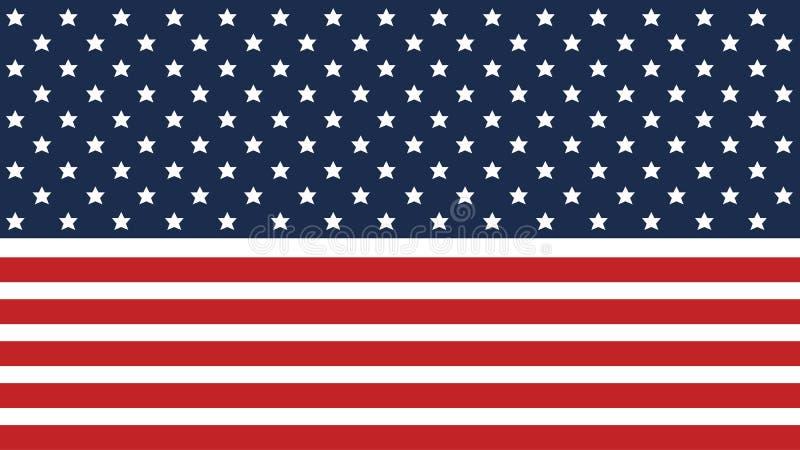 Fondo de la bandera americana para el Día de la Independencia y otros eventos EPS 10 Ilustración del vector Bueno para las presen ilustración del vector