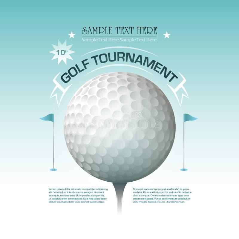 Fondo de la bandera de la invitación del torneo del golf stock de ilustración