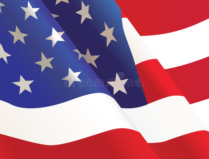 Fondo de la bandera de país de Estados Unidos que agita los E.E.U.U. libre illustration