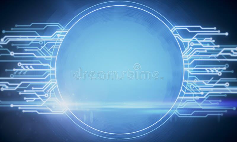 Fondo de la bandera del circuito ilustración del vector