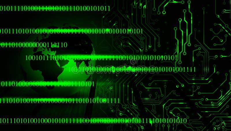 Fondo de la bandera del negocio de la tecnolog?a del mundo Globo conectado Google del mundo de la tecnolog?a Ilustraci?n del vect stock de ilustración