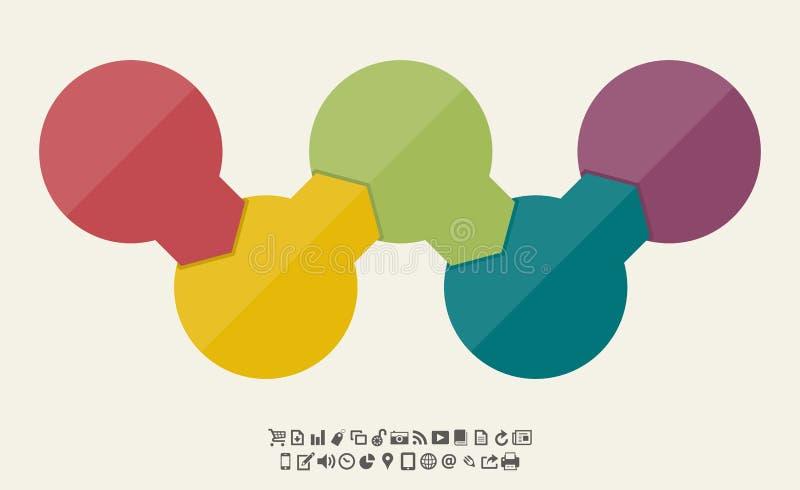 Fondo de la bandera del organigrama del círculo libre illustration
