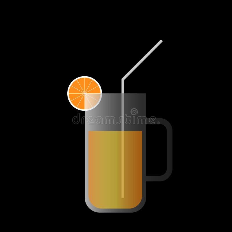 Fondo de la bandera del zumo de naranja ilustración del vector