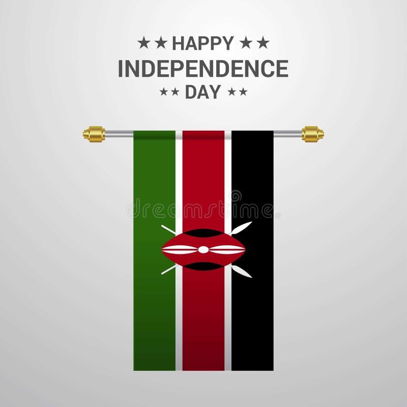 Fondo de la bandera de la ejecución del Día de la Independencia de Kenia libre illustration