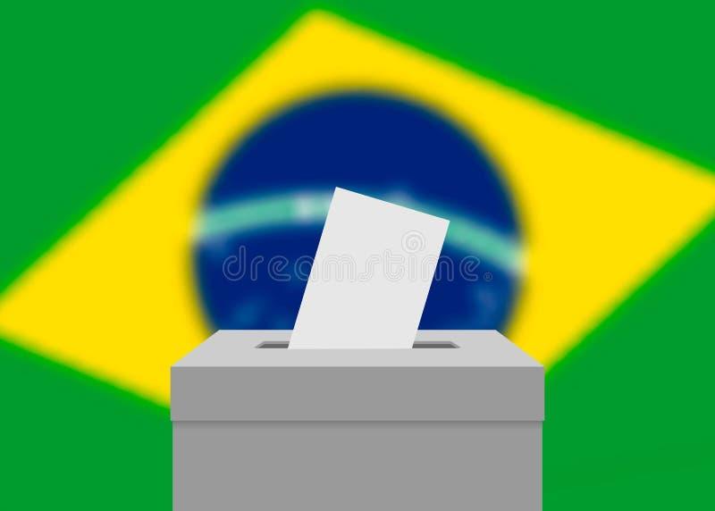 Fondo de la bandera de la elección ilustración del vector