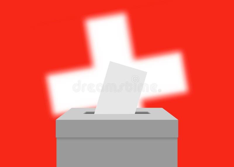 Fondo de la bandera de la elección stock de ilustración