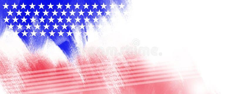 Fondo de la bandera de la bandera de los E.E.U.U. América texturizado ilustración del vector