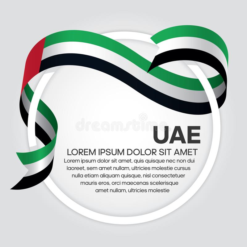Fondo de la bandera de los UAE ilustración del vector